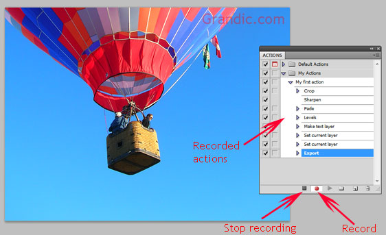 Photoshop actions - Record the action